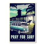 Pray For Surf Sunset Beach Road Trip Poster