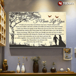 Couple I Never Left You Poster Canvas