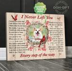 Cardinal Dog I Never Left You Poster Canvas