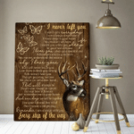 Deer Butterfly I Never Left You Poster Canvas