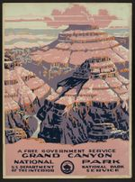 A Free Government Grand Canyon National Park Road Trip Poster