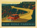 Miles And Miles Of Smiles Blue Ridge Parkway Road Trip Poster