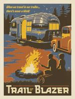 When We Travel In Our Trailer There'S Never A Hitch! Trailer Blazer Road Trip Poster