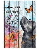 Labrador & Butterfly Pallet Painting Angels Dont Always Have Wings Sometimes They Have Paws Animal Poster