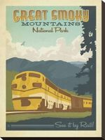 Great Smoky Mountains National Park Road Trip Canvas Poster