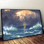 Jesus control the clouds and waves god poster