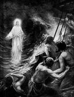 The book of Matthew Jesus Walks On The Water Poster