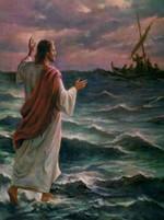Jesus Walking On Water Heals Anxious Hearts Poster