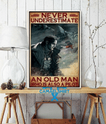Never Underestimate An Old Man Who Is Also A Pilot Poster Canvas