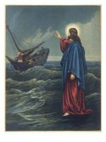 Jesus Walks on Water to the Astonishment of Peter and the Other Apostles Poster