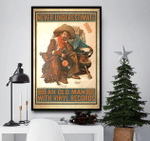 Never Underestimate Old Man With Vinyl Records Vertical Poster