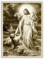 Christ Saving Sinking Peter Poster Christ on ocean