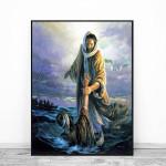 Jesus Peter Walking on Water Poster Canvas