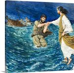 The Miracles of Jesus Walking on Water Poster