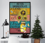 Never Underestimate A Teacher Who Does All Things Through Christ Poster