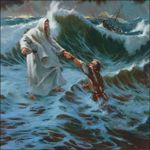 The Storm - Jesus Walks On The Water Poster