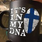 Finnish finger print it's in my dna for lovers mug