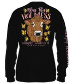 Cow bless this hot mess simply southern collection tshirt