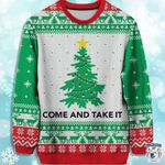Christmas tree come and take it sweater