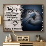 Turtle this is us a little crazy loud & a whole lot of love custom poster canvas