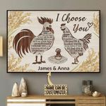 Chicken i choose you custom name poster canvas