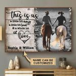 Horse this is su a little bit crazy loud & a whole lot of love custom name poster canvas