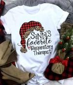 Santa's favorite respiratory therapist tshirt