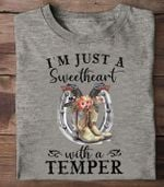 Cowgirls i'm just a sweetheart with a temper tshirt