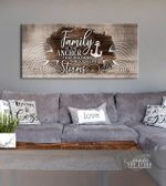 Family is the anchor that holds us through life's storm poster canvas