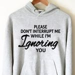 Please don't interrupt me while i'm ignoring you hoodie