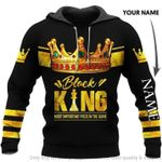Black king most important piece in the game custom name hoodie