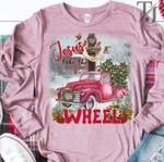 Pink truck jesus take the wheel sweater