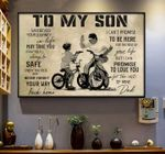 To my son never forget your way back home love dad poster canvas