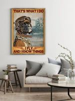 Boxer Dog That's What I Do I Fly & I Know Things Dog Poster