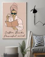 COFFEE Books Peaceful Mind Vertical Poster Canvas