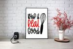 Kitchen Print Whip it Real Good poster