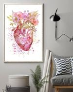 Cardiologist Beauty In Human Heart Poster Canvas