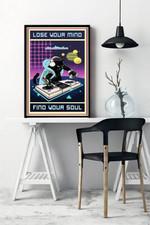 DJ Black Cat Lose Your Mind Find Your Soul Home Decor Poster