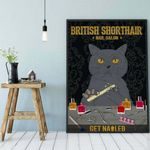 Black Cat poster British Shorthair Get Nail cat poster