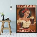 Just A Girl Who Love Beer poster