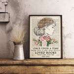 Book Lovers Floral Print Vintage Print Reading Quote Print Typography poster