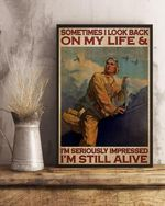 Pilot Look Back At Life Poster Canvas
