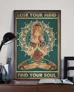 Lose Your Mind Find Your Soul Yoga Poster Canvas