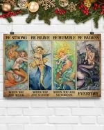 Mermaid Be Humble When You Are Victorious Poster Canvas