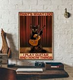 Thats What I Do I Play Guitar and I Know Things cat poster