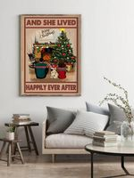 Pug And She Lived Happily Ever After Christmas Home Decor Poster