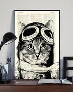 Pilot Cat Poster No Framed