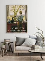 Tuxedo Cat And Camera Girl She Lived Happily Ever After Wall Decor Poster