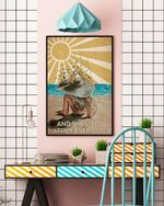 Easily Distracted By Music And Ocean Poster No Frame