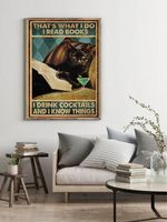 Black Cat That's What I Do I Read Books I Drink Cocktails And I Know Things Home Decor Poster